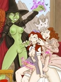 Futanari jester fucks queen and her daughter